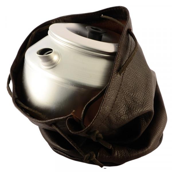 Lederbeutel für Kaffeekessel